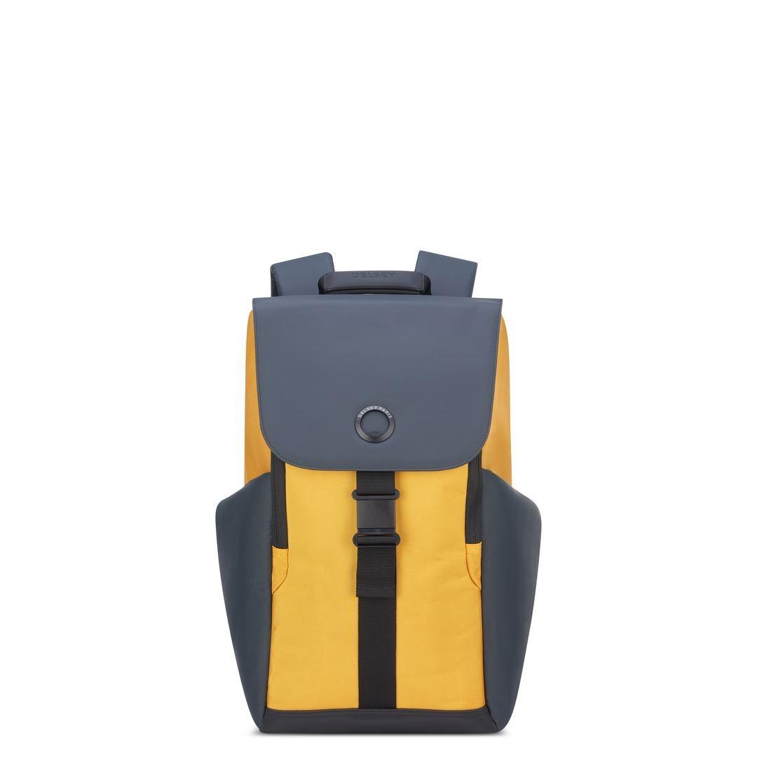 Delsey Σακίδιο πλάτης με θέση PC 15,6  45,5x31,5x14,5cm σειρά Securflap Yellow