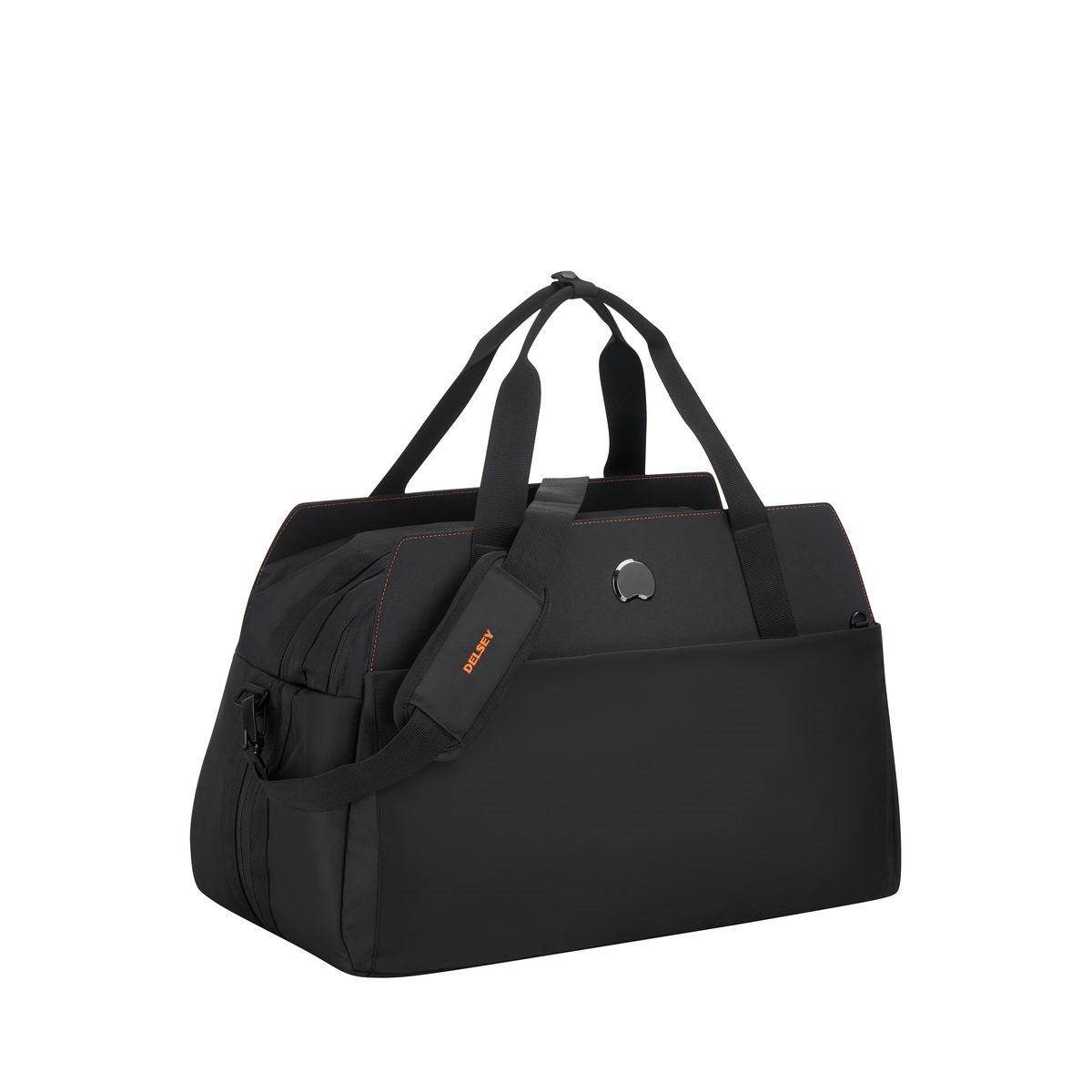 Delsey Τσάντα ταξιδίου 34x55x25/30cm με θέση για PC 15,6'' σειρά Daily s Orange Black