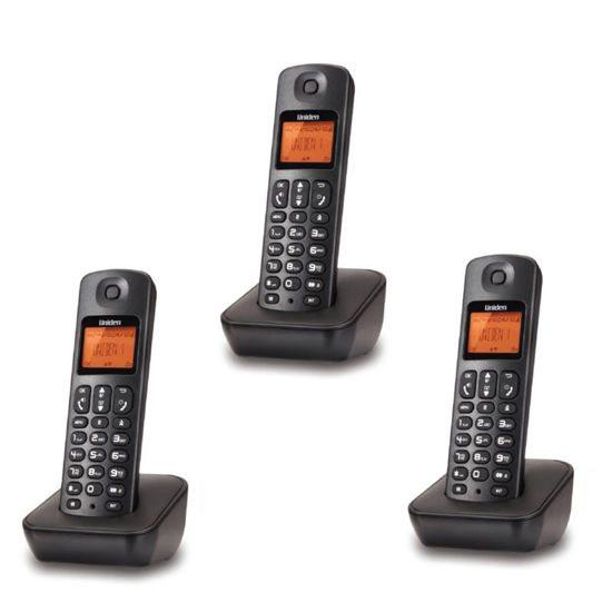 UNIDEN Τηλέφωνο Ασύρματο Triple AT-3100-3 Μαύρο