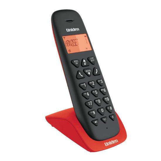 UNIDEN Τηλέφωνο Ασύρματο AT-3102 Μαύρο-Κόκκινο