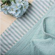 White Fabric Πετσέτα Stripy Mint Χειρός