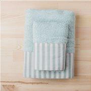 White Fabric Πετσέτα Stripy Mint Προσώπου