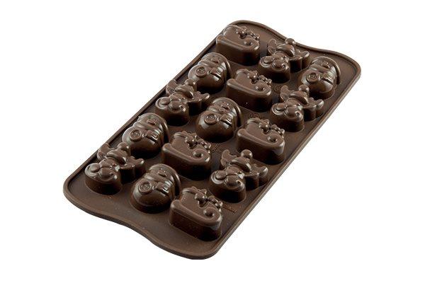 Silikomart Φόρμα Σιλικόνης για 15 Σοκολατάκια Choco Winter 33X27cm – 116ml