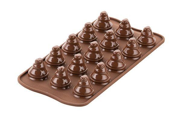 Silikomart Φόρμα Σιλικόνης για 15 Σοκολατάκια 3D Choco Trees 33X27cm – 120ml