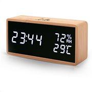 Life Θερμόμετρο & Υγρόμετρο Επιτραπέζιο Εσωτερικού Χώρου WES-108 Bamboo
