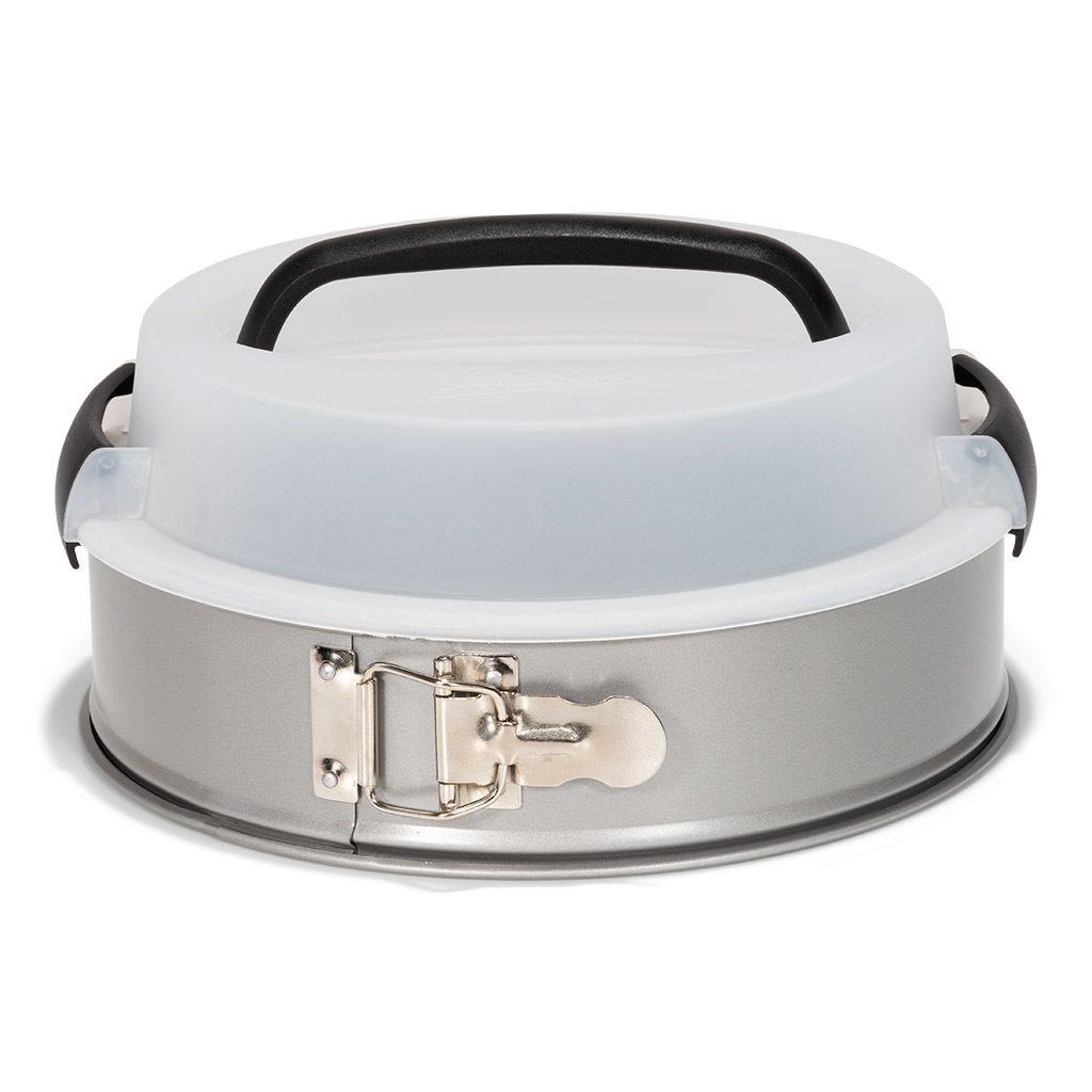 Patisse Φόρμα Λυόμενη Αντικολλητική με Καπάκι Μεταφοράς Silver Top 24cm