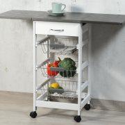Πάγκος Κουζίνας Λευκός-Γκρι 45/97X37X75,5cm