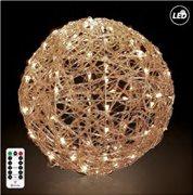Fos Me Φωτιζόμενη LED Μπάλα Φ50cm σε θερμό φως με μπαταρία με τηλεχειριστήριο με 8 λειτουργίες 27-00288
