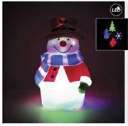 Fos Me Προτζέκτορας Χιονάνθρωπος LED με USB 27-00917
