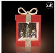 Fos Me Συσκευασία Δώρου Led Water Glitter Κόκκινο 27-00921