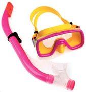 Fortis Σετ Μάσκα-Αναπνευστήρας PVC Παιδικό Ροζ