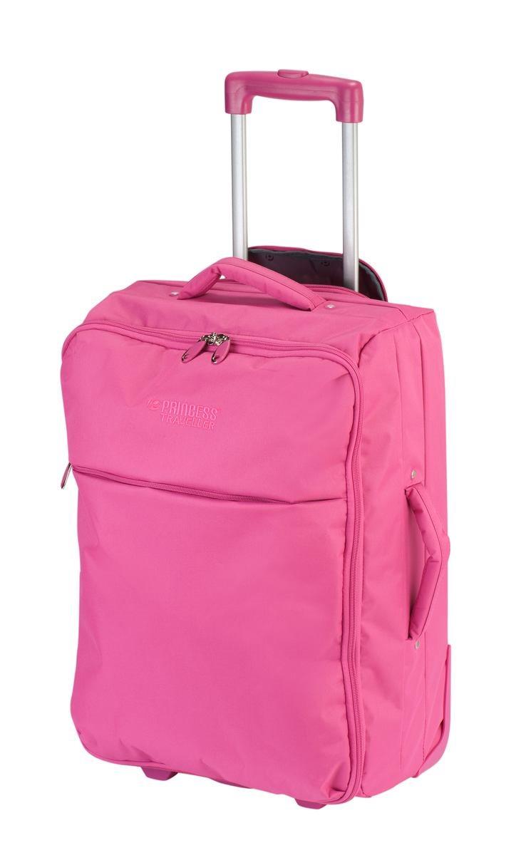 Princess Βαλίτσα καμπίνας 56x40x22cm 2 ρόδες soft Pamplona Pink