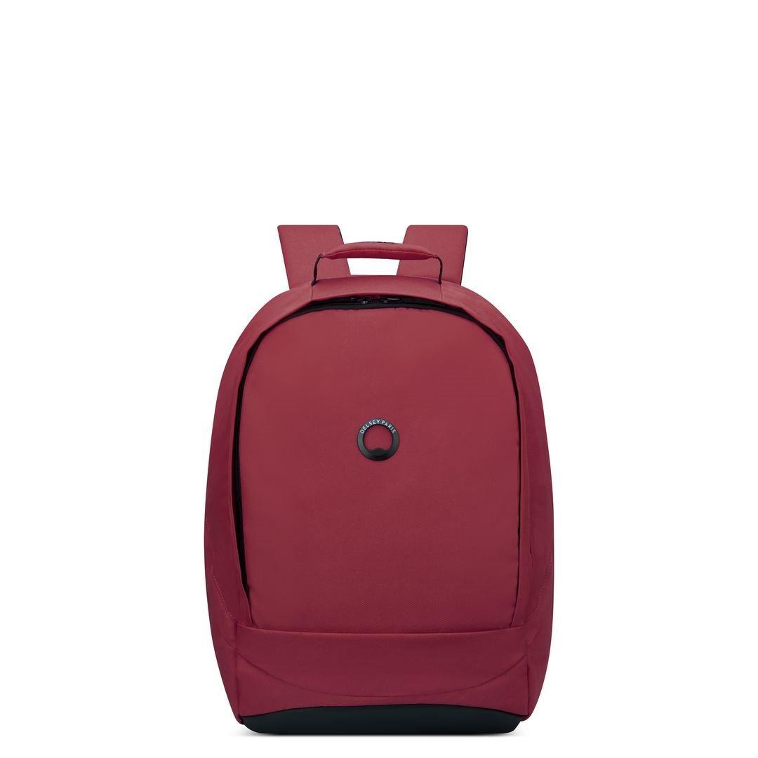 Delsey Σακίδιο πλάτης με θέση PC 15,6  48,5x32x17,5cm σειρά Securban Μπορντώ