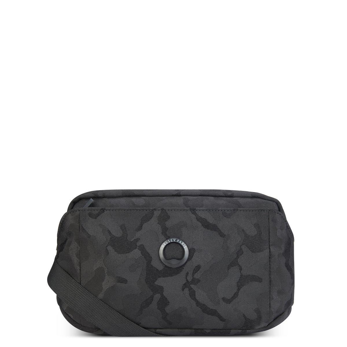 Delsey Τσαντάκι ώμου οριζόντιο 15x24x6cm σειρά Picpus Black Camouflage