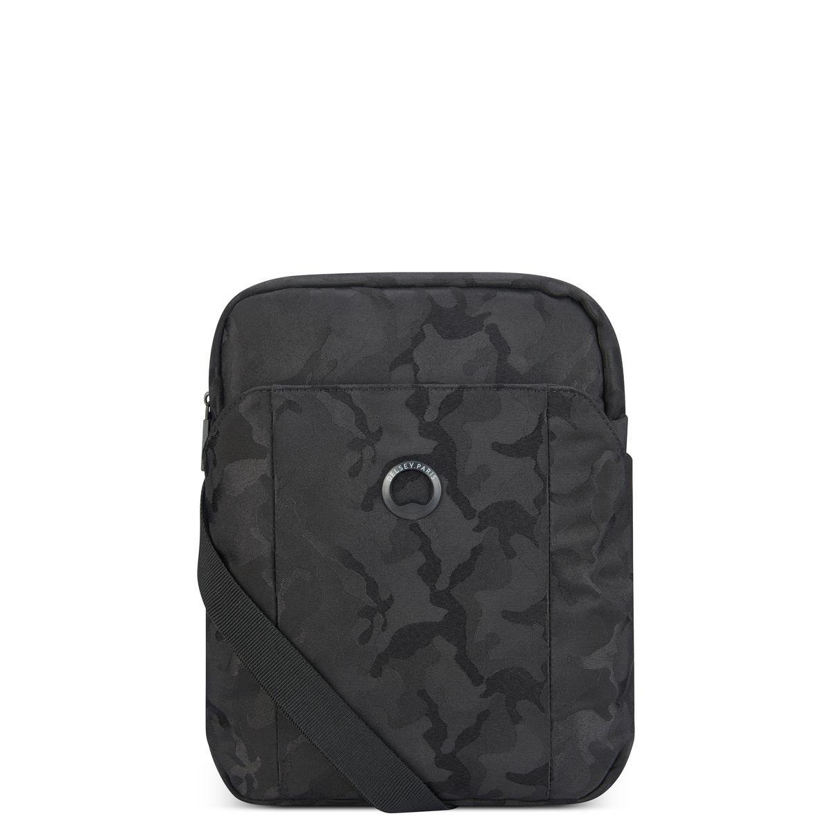 Delsey Ανδρικό τσαντάκι ώμου κάθετο 22x28x5.5cm tablet 9.7'' σειρά Picpus Black Camouflage