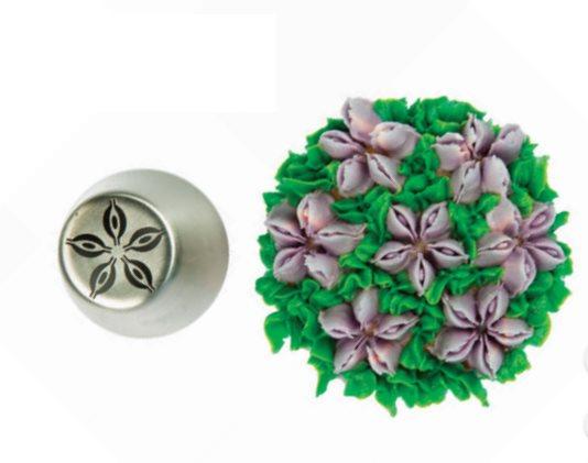 Silikomart Μύτη για Κορνέ Ανοξείδωτη Tube 07 Mini Flower O18mm