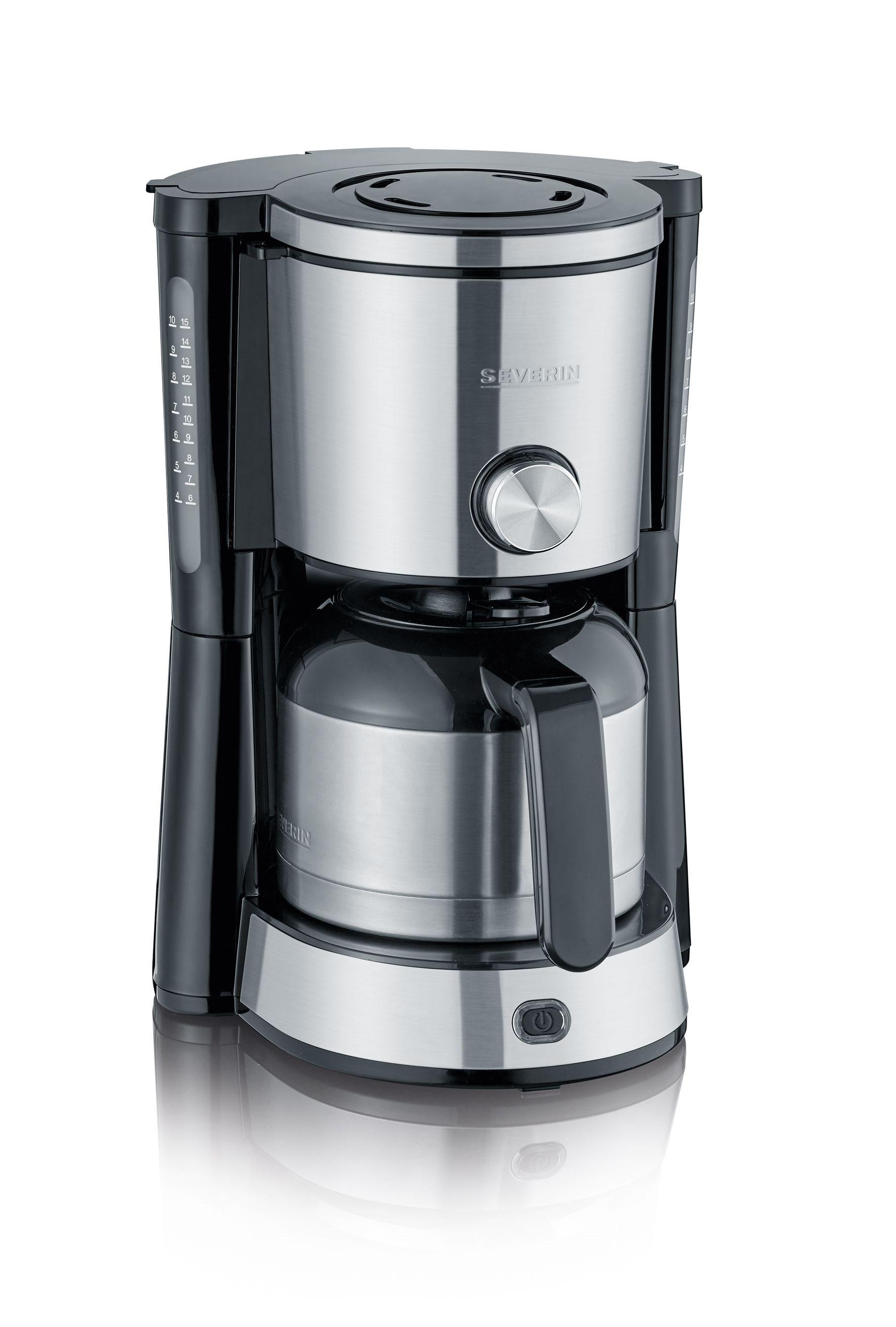 Severin Καφετιέρα με Θερμομονωτική Κανάτα Ανοξείδωτη TypeSwitch 8 Φλιτζανιών-1000W