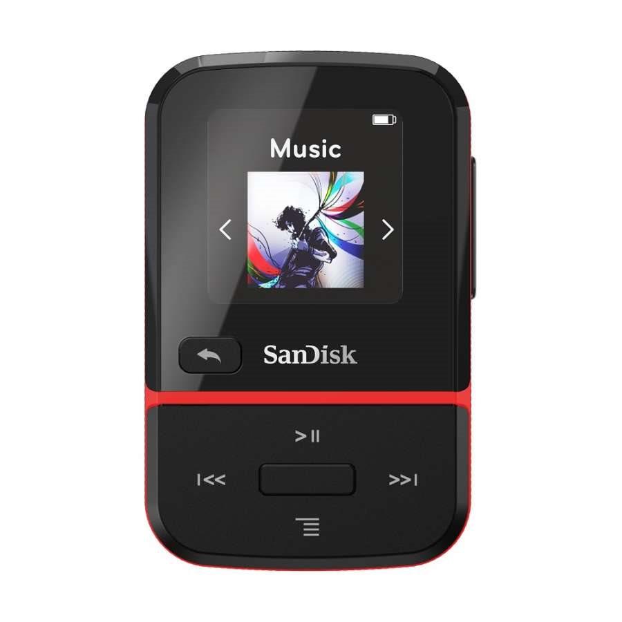 SanDisk Mp3 Player SDMX30-016G-E46R Clip Sport Go Red 16GB