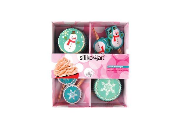 Silikomart Χάρτινες Θήκες 5cm & Διακοσμητικά Γλυκών Χριστουγεννιάτικα Σετ 48 Τεμαχίων