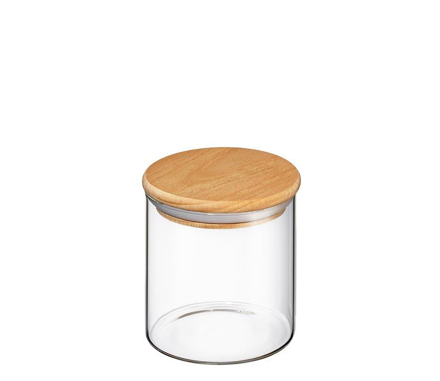Zassenhaus Δοχείο Γυάλινο με Ξύλινο Καπάκι 600ml
