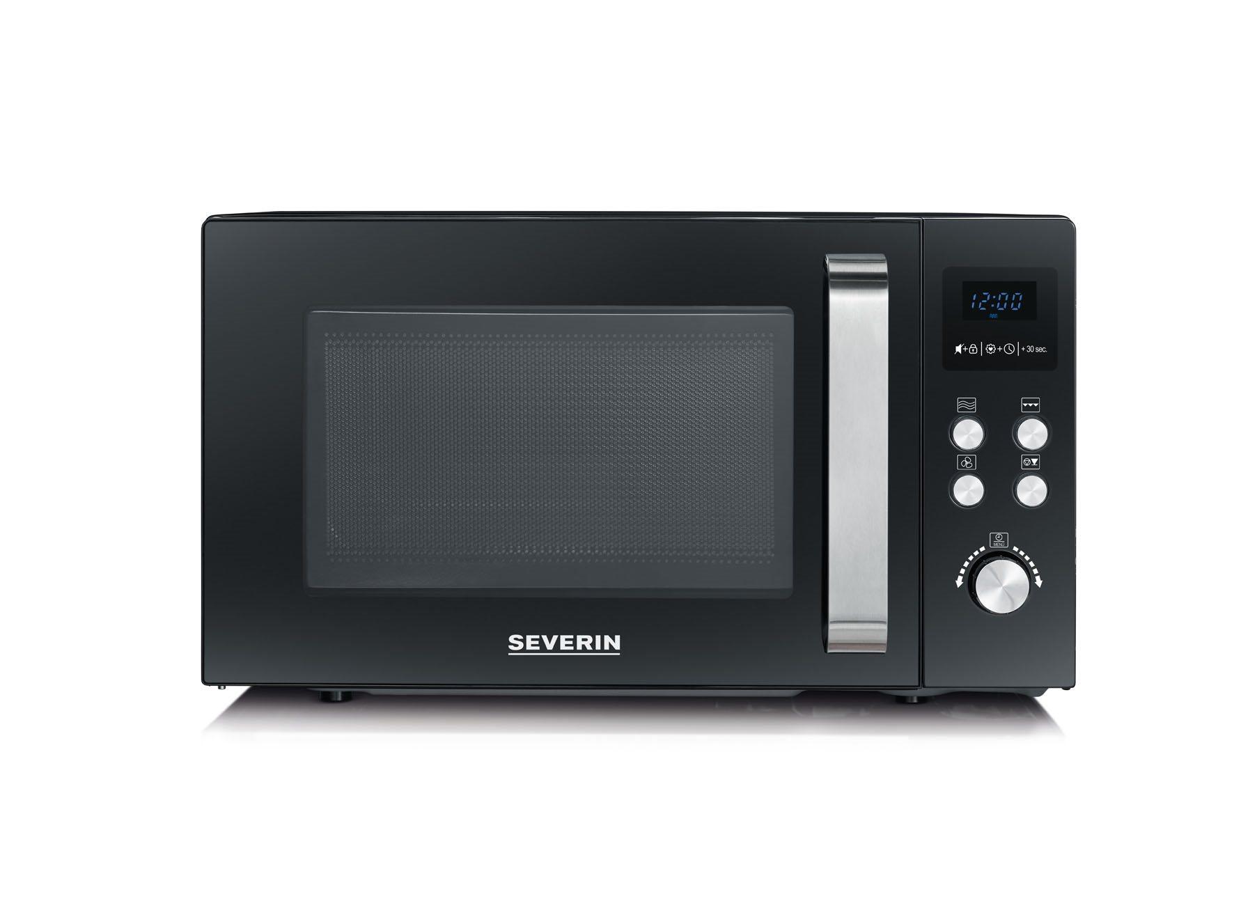 SEVERIN Φούρνος Μικροκυμάτων 23lt, 900W με Grill και Συμβατός Μαύρος - 7752