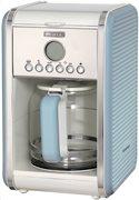 Ariete Καφετιέρα Φίλτρου Vintage 1342/05 900W Light Blue (12 φλυτζάνια)