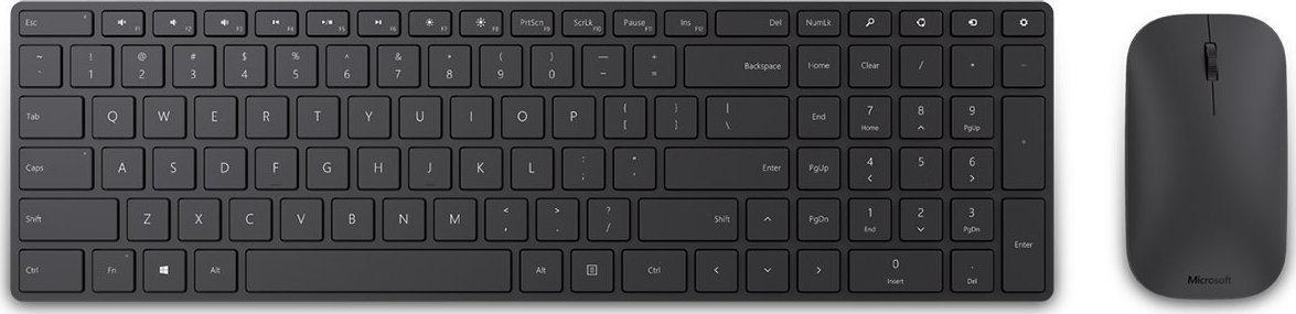 Micosoft Ασύρματο Πληκτρολόγιο & Ποντίκι Designer Bluetooth Desktop Μαύρο