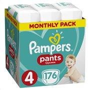 Pampers Pants Πάνες Βρακάκι No 4 9-15kg Monthly Box 176τμχ