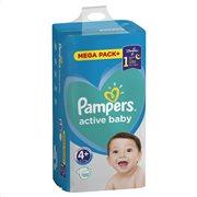 Pampers Active Baby Πάνες Με Αυτοκόλλητο No 4+ 10-15kg Mega Pack 120τμχ