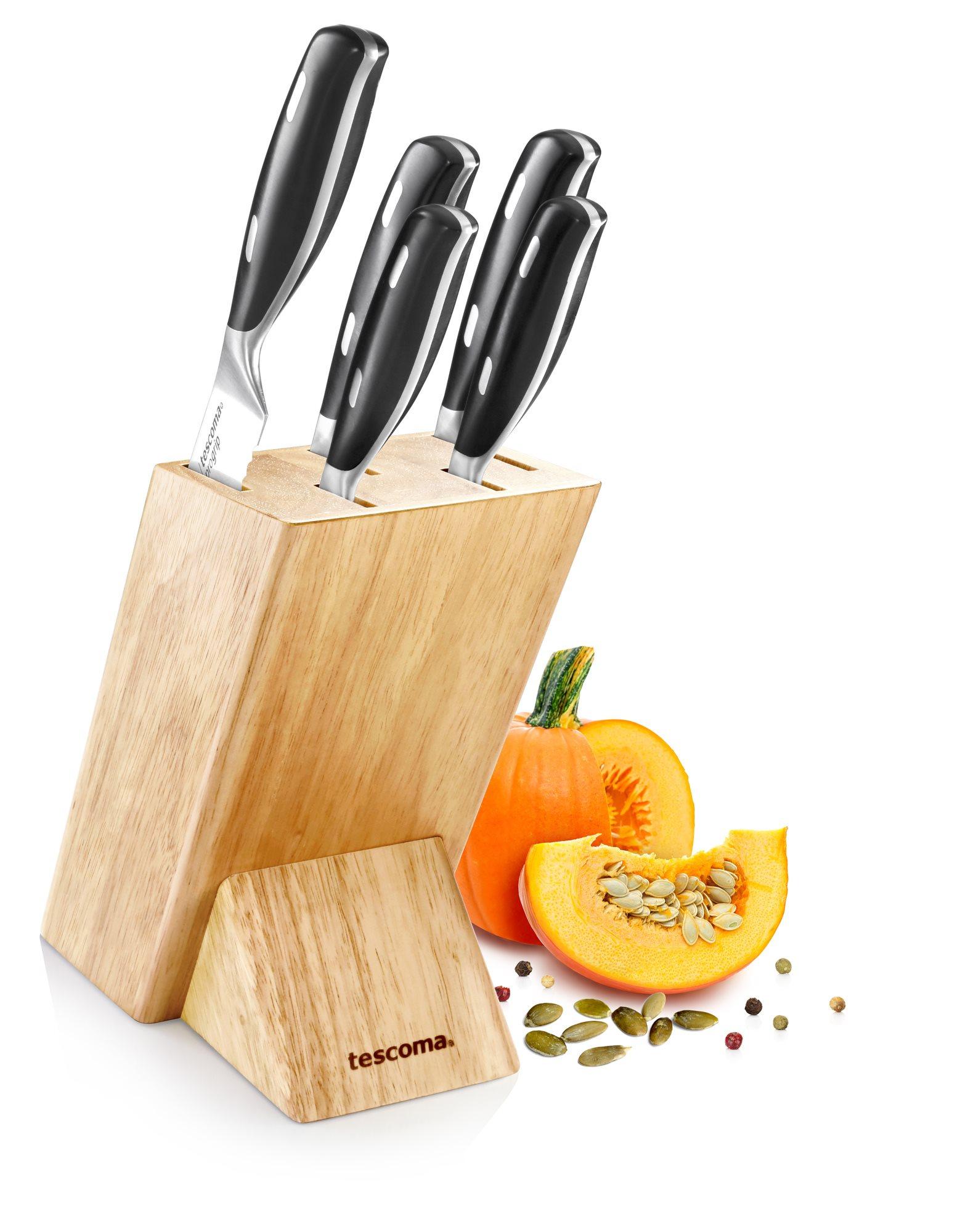 Tescoma Σετ Ξύλινη Βάση & 5 Μαχαίρια Grand Chef