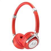 MOTOROLA Ακουστικά Κεφαλής  Ενσύρματα  Οn-Ear Pulse 2 Κόκκινα