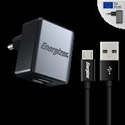 Energizer Φορτιστής Ταξιδιού 2.4A 2USB EU & Καλώδιο Micro USB