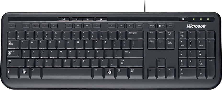 Micosoft Ενσύρματο Πληκτρολόγιο Keyboard 600 Μαύρο