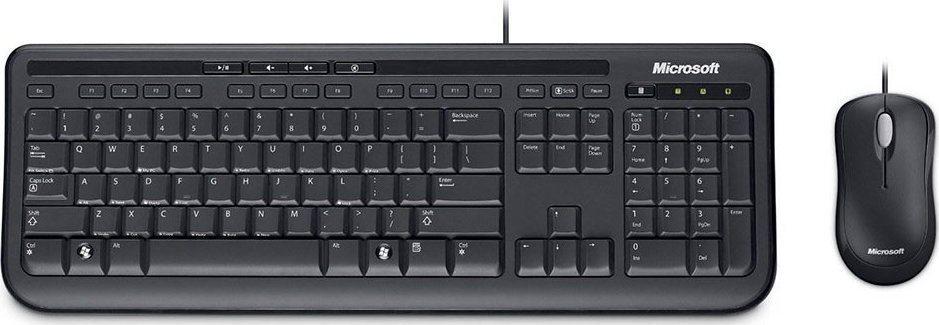 Micosoft Ενσύρματο Πληκτρολόγιο & Ποντίκι Desktop 600 Μαύρο