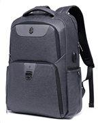 ARCTIC HUNTER τσάντα πλάτης B00266-BK με θήκη laptop USB γκρι