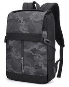 ARCTIC HUNTER τσάντα πλάτης B00352-BK με θήκη laptop USB μαύρη