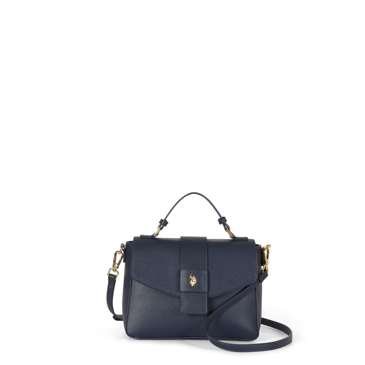 US Polo Assn. Τσάντα χειρός με χερούλι 27x11x20cm Jones Blue