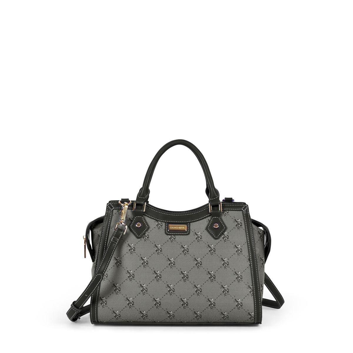 US Polo Assn. Τσάντα χειρός γυναικεία 33x15x23cm Hampton Black