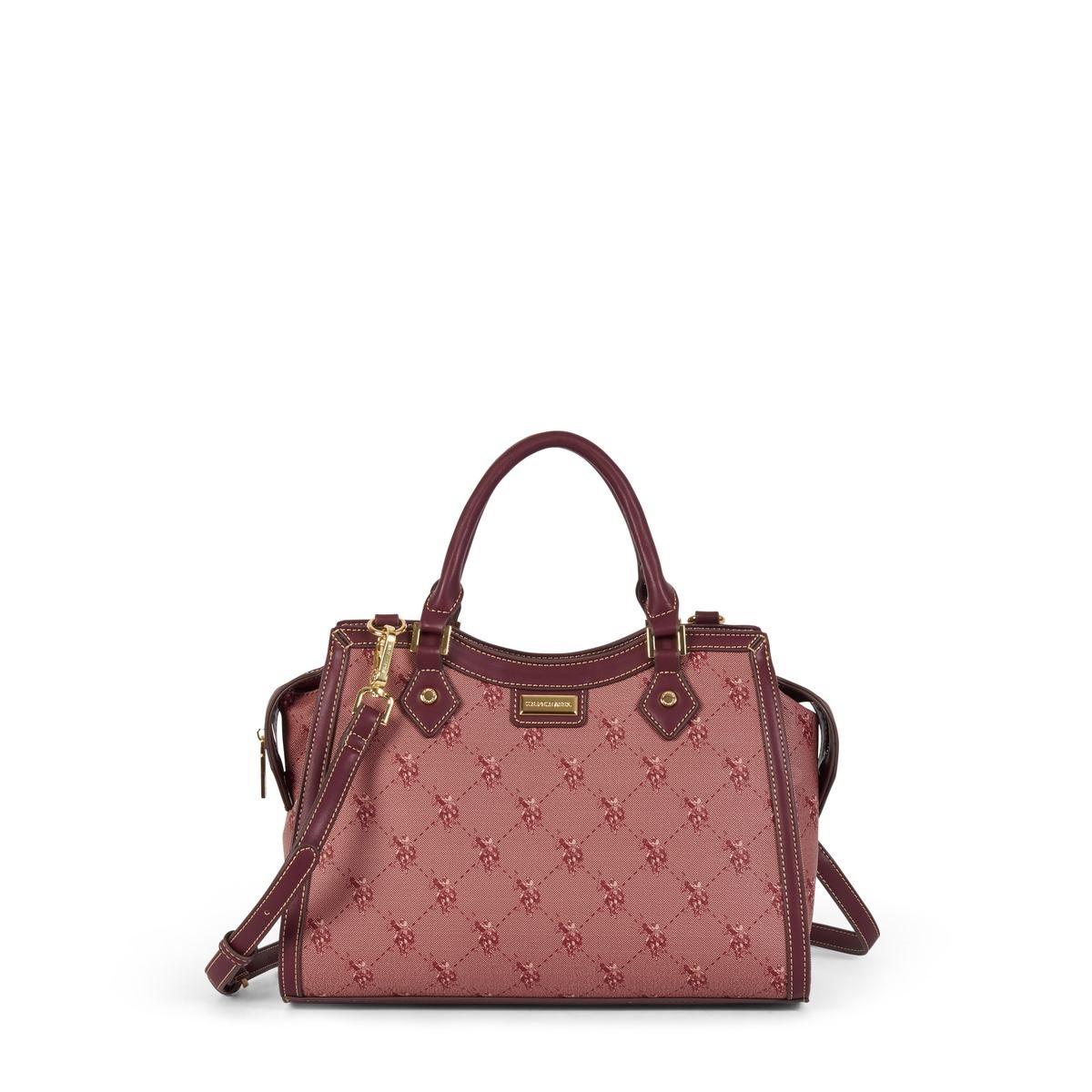 US Polo Assn. Τσάντα χειρός γυναικεία 33x15x23cm Hampton Wine