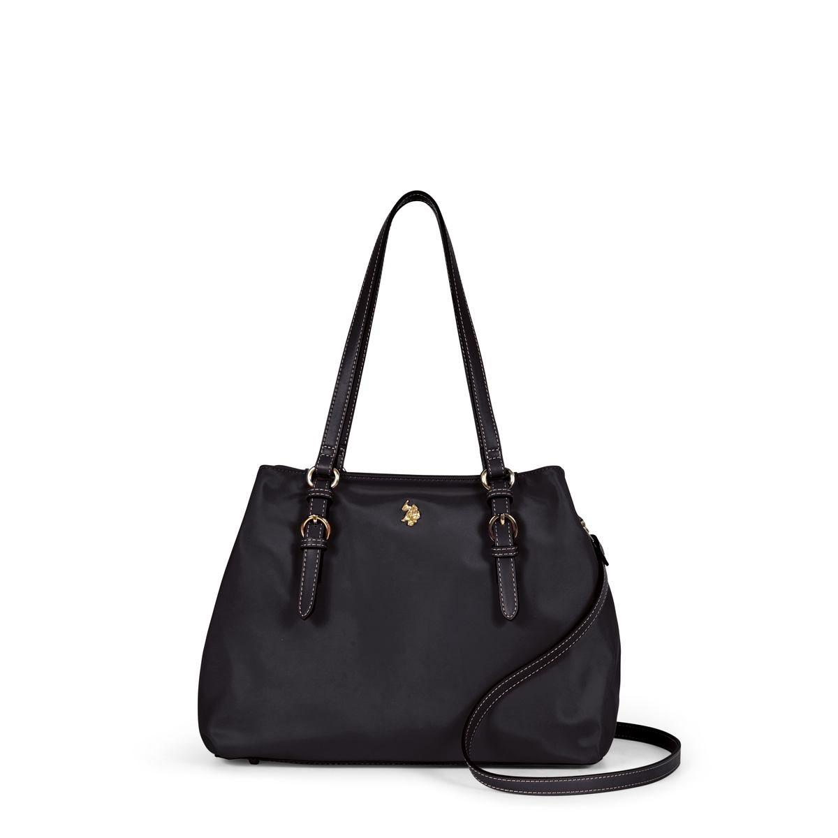 US Polo Assn. Τσάντα χειρός γυναικεία 33x14x24cm Houston Black