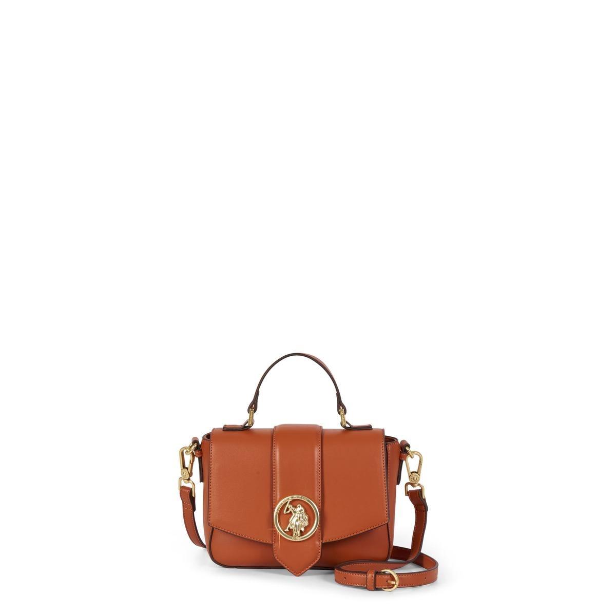 US Polo Assn. Τσάντα χειρός flap 20.5x7.5x14cm Vancouver Tan