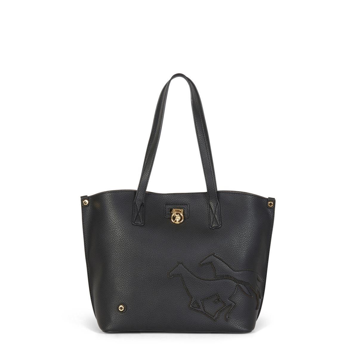 US Polo Assn. Τσάντα χειρός 29x13x27cm Newport Black
