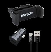 Energizer kit Βάση Στήριξης Αυτοκινήτου & Φορτιστής & Καλώδιο Micro USB DICKITB1ACMC3