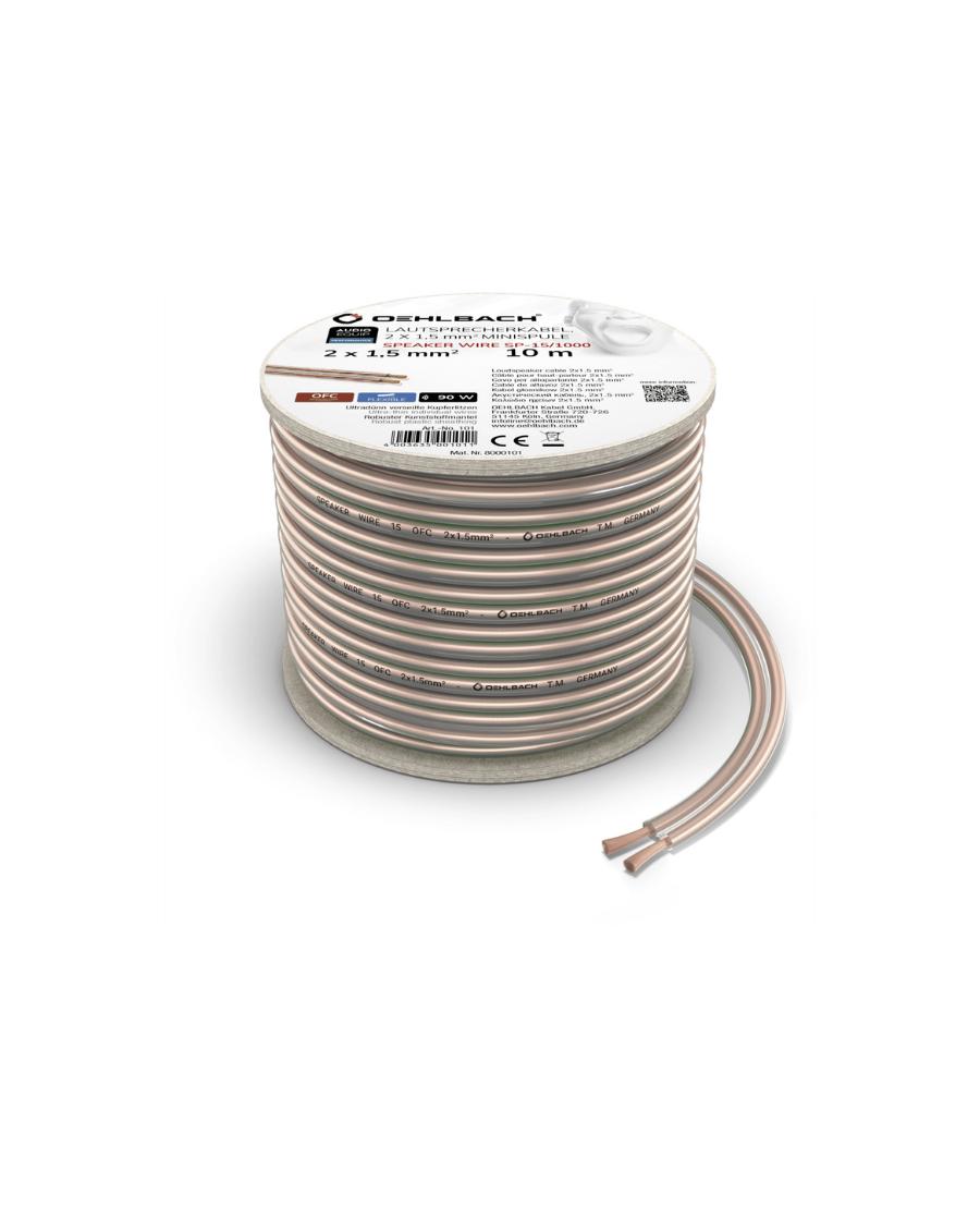 Oehlbach Speaker Wire SP-15 Καλώδιο Ηχείων 2 x 1,5 mm² 10m