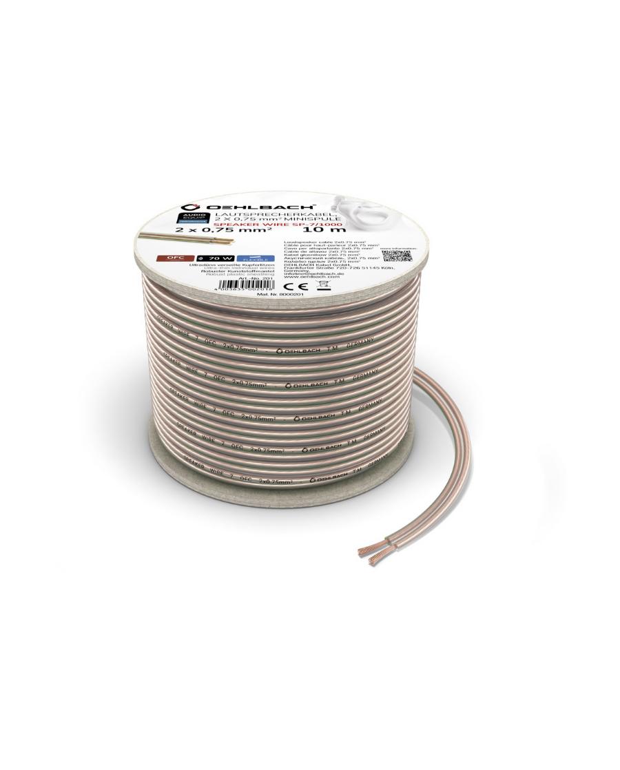 Oehlbach Speaker Wire SP-7 Καλώδιο Ηχείων 2 x 0,75 mm² 10m