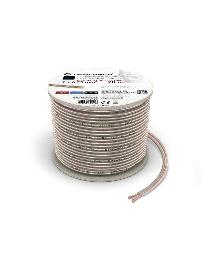 Oehlbach Speaker Wire SP-7 Καλώδιο Ηχείων 2 x 0,75 mm² 20m
