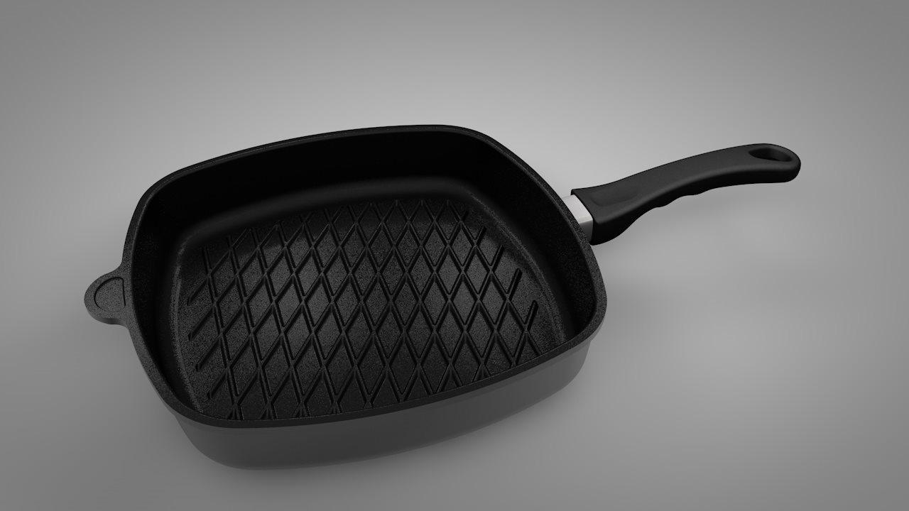 AMT WORLD S BEST PAN Τηγάνι Ψηστιέρα 28x28x5cm - E285BBQ-E-Z2