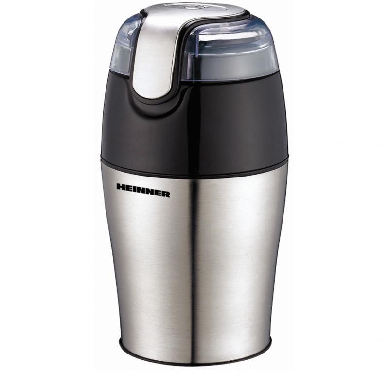 Heinner Ηλεκτρικός Μύλος Καφέ 150W με Χωρητικότητα 50gr Ασημί HCG-150S