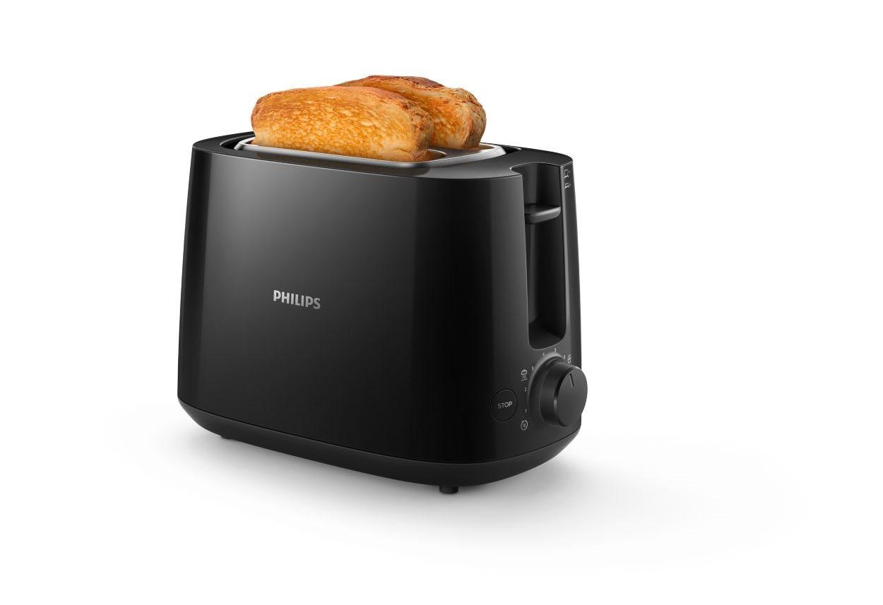 Philips Φρυγανιέρα 2 Θέσεων 830W HD2581/90 Μαύρη