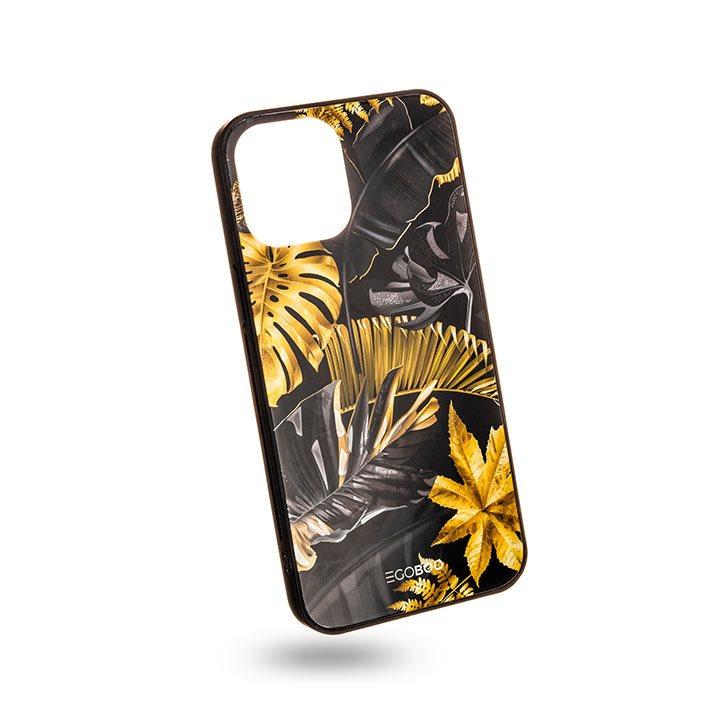 EGOBOO Case Glass TPU Lux Leaves (iPhone 12 Pro Max)